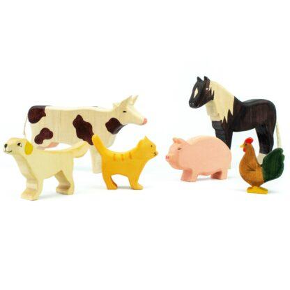 Figurine din lemn 6 animale de ferma