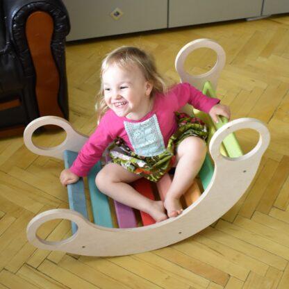 Balansoar din lemn copii