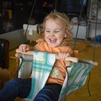 Leagan copii din lemn